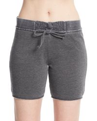 Marc New York - Distressed Fleece Shorts - Lyst