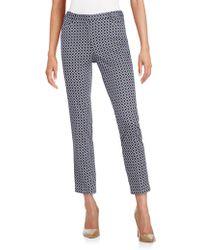 Andrea Jovine - Geo-print Stretch Cotton Ankle Pants - Lyst