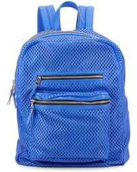 Ash - Danica Perforated Leather Backpack - Lyst
