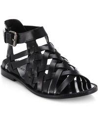 DANNIJO - Kalle Woven Leather Sandals - Lyst