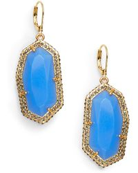 Vince Camuto - Pavé Border Faceted Drop Earrings - Lyst