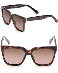 Joe's - 53mm Square Tortoise Shell Sunglasses - Lyst