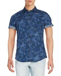 Calvin Klein Jeans - Confetti Camo-print Cotton Short Sleeve Shirt - Lyst