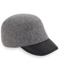 Genie by Eugenia Kim - Alex Heathered Wool & Leather Cap - Lyst