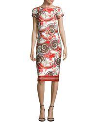 Eci - Raglan-sleeve Paisley Dress - Lyst
