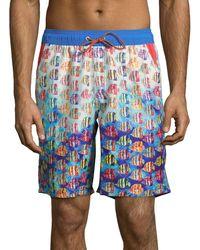 Bugatchi - Printed Swim Shorts - Lyst