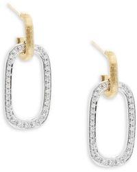 Marco Bicego - Diamond, 18k Yellow & White Gold Drop Earrings - Lyst