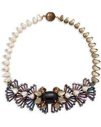 Tataborello - Swarovski Crystal Fan Necklace - Lyst