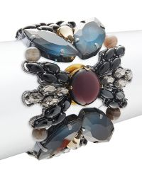 Tataborello - Studded Butterfly Bracelet - Lyst