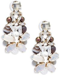 Tataborello - Crystal Drop Earrings - Lyst
