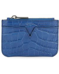 Vince - Croc-embossed Leather Pouch - Lyst