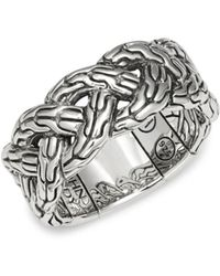 John Hardy - Textured Sterling Silver Ring - Lyst