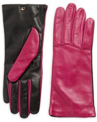 RED Valentino - Two-tone Leather Gloves - Lyst