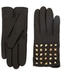 RED Valentino - Pyramid Leather Gloves - Lyst