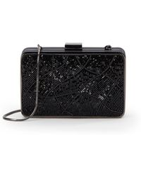 Saks Fifth Avenue Black - Beaded Silk Square Minaudière - Lyst