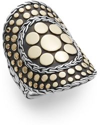John Hardy - Dot 18k Yellow Gold & Sterling Silver Nuansa Ring - Lyst