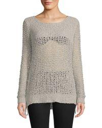 BB Dakota - Ella Perforated Sweater - Lyst