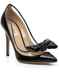 Valentino - Dollybow Leather Court Shoes - Lyst