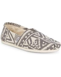TOMS - Patterned Slip-on Trainers - Lyst