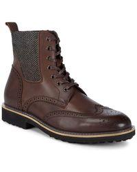 Zanzara - Brogue Leather Ankle Boots - Lyst