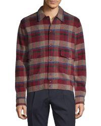 Ralph Lauren Blue Label - Plaid Wool & Cashmere Shirt Jacket - Lyst