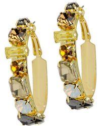 Saachi - Dynasty Crystal Hoop Earrings - Lyst