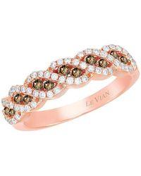 Le Vian - Chocolatier Vanilla Diamonds, Chocolate Diamonds And 14k Strawberry Gold Ring - Lyst