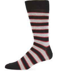 Saks Fifth Avenue - Fade Jaspe Striped Crew Socks - Lyst
