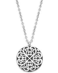 Lois Hill - Classic Sterling Silver Geometric Pendant Necklace - Lyst