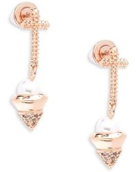 Eddie Borgo - Trinity Pearl Dangle & Drop Earrings - Lyst