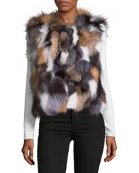 Surell - Dyed Fox Fur Sleeveless Vest - Lyst