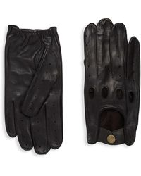 Saks Fifth Avenue - Driver Leather Gloves - Lyst