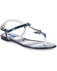 Dolce & Gabbana - Anchor Leather Thong Sandals - Lyst