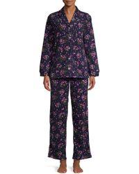 Carole Hochman - Two-piece Floral-print Pyjama Set - Lyst
