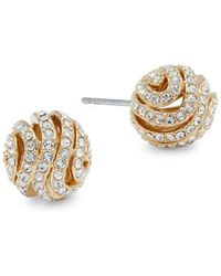 Adriana Orsini - Artemis Pavé Ball Stud Earrings - Lyst