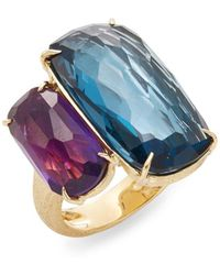 Marco Bicego | Murano London Blue Topaz, Amethyst & 18k Yellow Gold Ring | Lyst