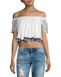 Raga - Aria Off-the-shoulder Cropped Top - Lyst