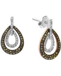 Effy - Final Call Diamond, 14k White & Rose Gold Drop Earrings - Lyst