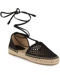 Frye - Round Toe Lace-up Espadrilles - Lyst