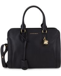 Alexander McQueen - Small Pebbled Leather Boxed Tote - Lyst
