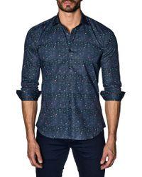 Jared Lang - Tonal Striped Cotton Button-down Shirt - Lyst