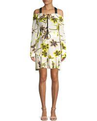 10 Crosby Derek Lam - Floral-print Silk Sheath Dress - Lyst