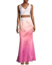 Laundry by Shelli Segal - Ombre Cropped Top And Skirt Set - Lyst