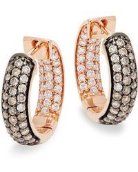 Le Vian - Chocolatier® Chocolate & Vanilla Diamondstm 14k Strawberry Gold® Huggie Hoop Earrings - Lyst