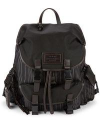 John Varvatos - Striped Backpack - Lyst