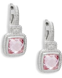 Judith Ripka - Crystal Cushion Drop Earrings - Lyst