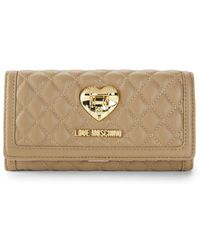 Love Moschino - Flap Faux Leather Continental Wallet - Lyst
