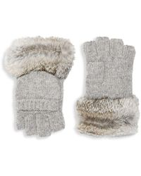 Adrienne Landau - Rabbit Fur Pull On Gloves - Lyst