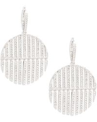 Adriana Orsini - Cassandra Pave Drop Earrings - Lyst