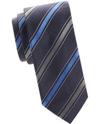 Saks Fifth Avenue - Diagonal Stripe Silk Tie - Lyst
